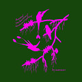 Pink Hummingbirds by The one eyed Raven