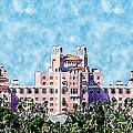 Pink Lady Don Cesar Watercolor by Diann Fisher