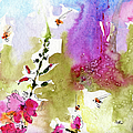Pink Lavatera Floral Painting 1 by Ginette Callaway