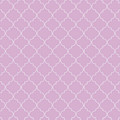 Pink Lavender Quatrefoil by Ashley Wann