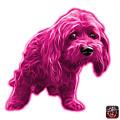 Pink Lhasa Apso Pop Art - 5331 - Wb by James Ahn