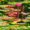 Pink Lotus Flower 2 by Jeelan Clark