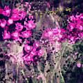 Pink Majestic Garden- Art By Linda Woods by Linda Woods