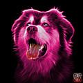 Pink Malamute Dog Art - 6536 - Bb by James Ahn