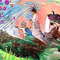 Pink Molecules Rain by Miki De Goodaboom
