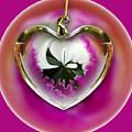 Pink Orchid In A Heart by Pamela Walton