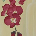 Pink Orchide In A Vase by Marinella Owens