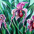 Pink Orchids by Sofia Metal Queen