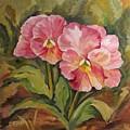 Pink Pansies by Cheryl Pass