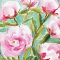 Pink Peony Branches by Beverly Brown