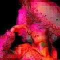 Pink Pixelated Princess by Ed Weidman