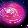 Pink Planet With Diffusing Atmosphere by Sofia Metal Queen