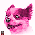 Pink Pomeranian Dog Art 4584 - Wb by James Ahn