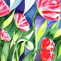 Pink Poppies Batik Style by Irina Sztukowski