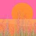 Pink Prairie Flowers by Val Arie