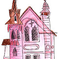 Pink Presbyterian Church  by Anna Elkins