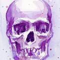 Pink Purple Skull by Olga Shvartsur