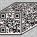 Pink Qr Cube by Charles Robinson