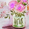 Pink Roses By Toni by Pamela Jessiman