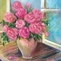 Pink Roses by Sally Seago