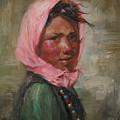 Pink Scarf by Kelvin  Lei