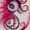 Pink Seahorse by  Abril Andrade Griffith