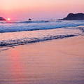Pink Sky In Zipolite by Lyle Crump