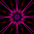 Pink Starburst Fractal  by Tracey Everington