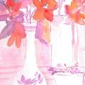Pink Still Life by Susan Haddock