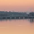 Pink Sunrise Over The Rock River by Viviana  Nadowski