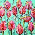 Pink Tulip, Turquoise by Mathias