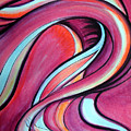 Pink Wave Of Energy. Abstract Vision by Sofia Metal Queen