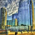 Pinnacle Building Sunset Nashville Shadows Nashville Tennessee Art by Reid Callaway