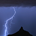 Pinnacle Peak Lightning  by James BO Insogna