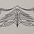 Pinstripe Black On White by Alan Johnson