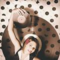 Pinup Dj Rocking Around The Clock  by Jorgo Photography - Wall Art Gallery