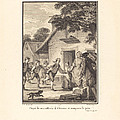 Piqu? De Ma Raillerie, Il S'?vertue Et Remporte Le Prix by Nicolas Delaunay After Jean-michel Moreau