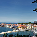 Piran Slovenia Gulf Of Trieste On The Adriatic Sea From The Punt by Reimar Gaertner