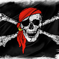 Pirate Flag by Les Cunliffe