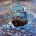 Pirate Ship 1 by Adele Fulcher