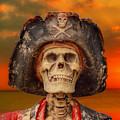 Pirate Skeleton Sunset by Randy Steele