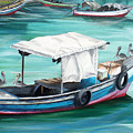 Pirogue Fishing Boat  by Karin  Dawn Kelshall- Best