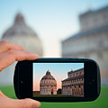 Pisa Italy In Smart Phone by Songquan Deng