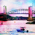 Piscataqua River Bridge From Harborwalk Park, Portsmouth New Hampshire by Anita Pollak