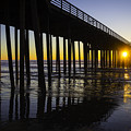Pismo Sunset Wharf by Garry Gay