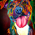 Pit Bull - Olive by Alicia VanNoy Call