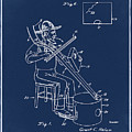 Pitch Fork Fiddle And Drum Patent 1936 - Blue by Bill Cannon