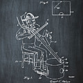 Pitch Fork Fiddle And Drum Patent 1936 - Chalk by Bill Cannon