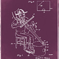 Pitch Fork Fiddle And Drum Patent 1936 - Red by Bill Cannon