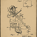 Pitch Fork Fiddle And Drum Patent 1936 - Sepia by Bill Cannon